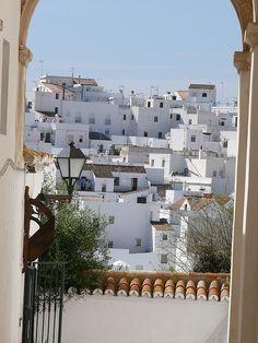 White houses in Vejer de la Frontera, Spain