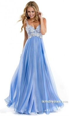 http://www.ikmdresses.com/2014-Low-Back-Straps-A-Line-Chiffon-Prom-Dress-With-Lace-Bodice-p85289