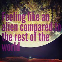 Imagen de alien, unique, and infj