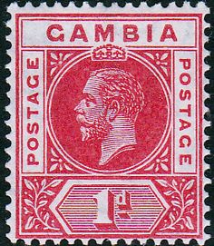Gambia 1921 King George V SG 109 Fine Mint SG 109 Scott 88 Other British Commonwealth stamps for sale here