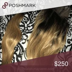 """Dark blonde w. Dark roots bundle Never installed, don't want these to go to waste.  14"""" frontal and 16""""&18"""" bundle Dark blonde w. Dark roots, Straight for sale!! Message me if interested. Accessories Hair Accessories"""