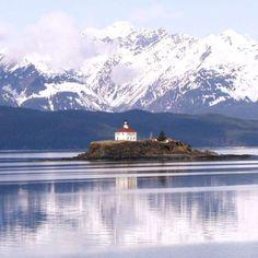 Eldred Rock Lighthouse in Alaska