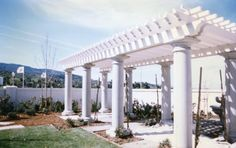 Italian four layer big beamed arbor with round colums menlo park 94026 Atherton California, Menlo Park, Outdoor Projects, Italian Style, Trellis, Beams, Pergola, Construction, Outdoor Structures