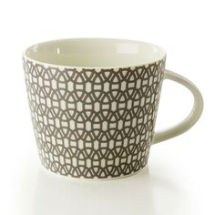 SCION - Designer Home Accessories | Mugs | Lace - Charcoal and Lime