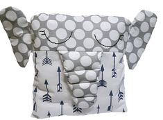Crib Bumper BabyPillow Animal Pillows Elephant Pillow Elephant Pillow, Animal Pillows, Cribs, Unique Jewelry, Handmade Gifts, Baby, Vintage, Cots, Kid Craft Gifts