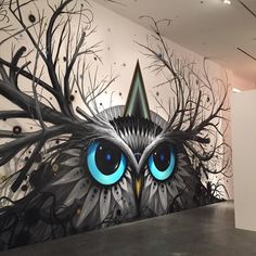 My Piece Chaos Owl For Outsidein The Ascendance Of Street Art In