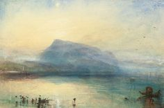 JMW Turner, The Blue Rigi: Lake of Lucerne, Sunrise; watercolour, etc., 12x18, 5.8MM gbp