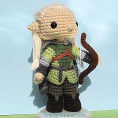 CROCHET - HOBBIT - LORD OF THE RINGS - LOTR - Legolas Greenleaf by CraftyTibbles on DeviantArt