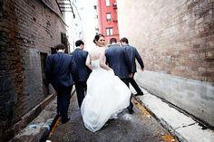 urban #city bridal photo #wedding http://www.theharbertcenterweddings.com