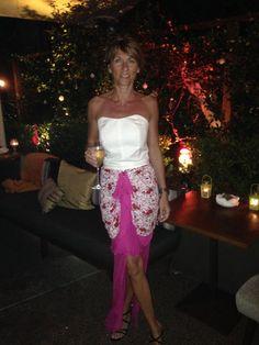 Virginie Delamare wearing a Michel Klein Paris gown