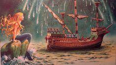 Tony Wolf (Antonio Lupatelli) Sirenetta, The Little Mermaid illustrations
