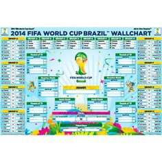 world cup 2014 fixtures | 2014 FIFA World Cup Fixtures Chart – Wall Poster Format