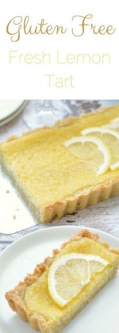 Easy gluten free lemon tart. Fresh lemon dessert recipe. How to make gluten free tart. Fresh lemon tart recipe. via @fearlessdining