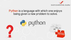 Learn #Python Programming with Real Time Examples from #Easylearning Guru