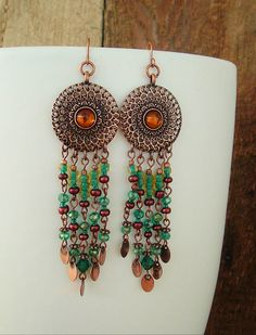Boho Earrings Chandelier Earrings Bohemian Jewelry by BohoStyleMe