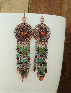 Boho Earrings Chandelier Earrings Bohemian Jewelry by BohoStyleMe