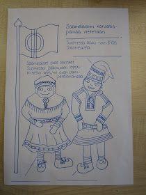 same people coloring Finnish Language, Lappland, Celebration Around The World, Language School, Samar, Pre School, Ancient History, Geography, Art Dolls