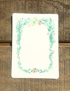 Seaweed Wreath Watercolor Card