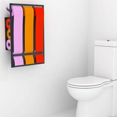 Support papier toilette et salle de bain on pinterest for Support papier toilette mural
