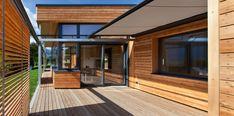 pedit & partner architekten Entrance, Garage Doors, Exterior, Partner, Outdoor Decor, Room, Furniture, Home Decor, Wood Facade