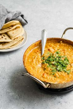 Masoor Dal Tadka - Indian Red Lentil Dal The Curious Chickpea Daal Recipe Indian, Lentil Recipes Indian, Indian Food Recipes, Red Lentil Dahl Recipe, Lentil Stew, Indian Snacks, Delicious Vegan Recipes, Vegetarian Recipes, Cooking Recipes