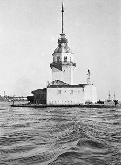 ✿ ❤ Bir Zamanlar İSTANBUL,  Kızkulesi 04 Ağustos 1919