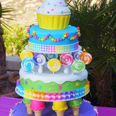 Candy cake! Cute birthday cake idea!!