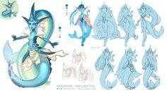Vaporeon Pokemon OOAK Doll Concept Art [1/2] by Dollightful