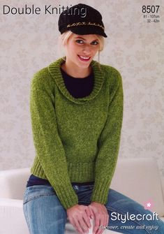 8507 Sweater by Stylecraft ($5.00) .... hmmm do like the neckline on this sweater although would probably shorten the sleeve length