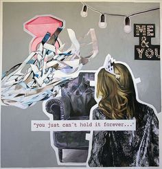 Paula Vincenti You just can't hold it forever Mixta sobre Papel 122 x 127 cm 2013