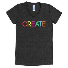 """Women's """"Create"""" Tee - WordGoods  - 1"""