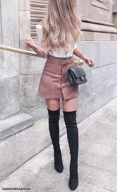 Fashforfashion -♛ fashion and style inspirations♛ - best outfit ideas Cute Casual Outfits, Girly Outfits, Mode Outfits, Stylish Outfits, Best Outfits, Winter Fashion Outfits, Look Fashion, Spring Outfits, Korean Fashion