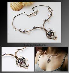 Silja- wire wrapped copper necklace by mea00.deviantart.com on @deviantART