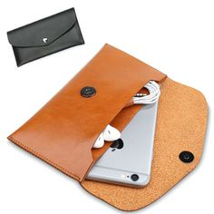 4.7 5.5 inch Universal Flip Soft PU Leather Wallet Pouch Case with Card Slot for iPhone 5 5s 5c Se 6 6s 7 Plus Phone Purse Bag