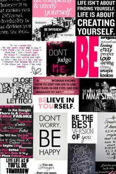 girly background (; encouraging sayings as wallpaper