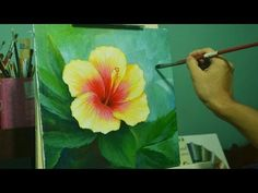 Acrylic Painting Lesson - Gumamela Flower by JMLisondra - YouTube