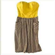 Target Xhilaration Strapless Yellow Apple Dress