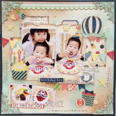 #papercraft #scrapbook #layout.  Imaginarium Designs: Project by Chitose(layout and canvas)