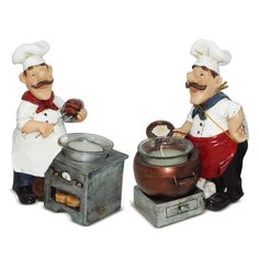 Italian fat chef waiter candle holder figurine cook figurin bistro decor Kitchen bar set. ** Find out more about the great product at the image link. (This is an affiliate link and I receive a commission for the sales)