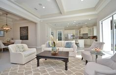 Contemporary living room home staging #neutrals