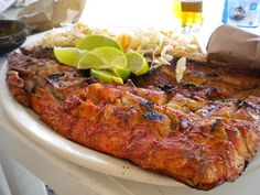 Food In Isla Mujeres: Red Snapper Tikin Xik | Playa Lancheros (on the west coast, south of the traffic circle by Sac Bajo)