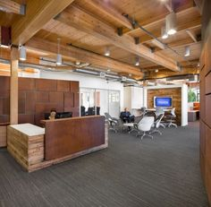 Lease Crutcher Lewis Office Renovation | Open work space + Reception Desk