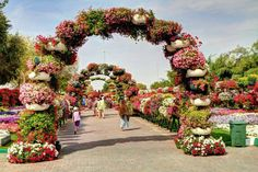 Archway of flowers.
