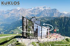 At the top of the Berneuse, in Leysin, Le Kuklos revolving restaurant completes one turn every hour and a half, taking you on a breathtaking tour of the Alps, during which you can admire the Mont-Blanc, the Dents du Midi, the Tour d'Aï and Tour de Mayen, and many other alpine peaks, from the comfort of your seat.  Restaurant Tournant Le Kuklos  Add: Route du Belvédère 8 1854 Leysin - CH Tel : +41 (0) 24 494 31 41 Email: kuklos@tlml.ch