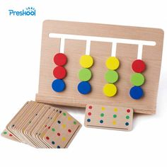 Cheap baby toys montessori, Buy Quality matching game directly from China learning educational game Suppliers: Baby Toy Montessori Four Colors Game Color Matching for Early Childhood Education Preschool Training Learning Toys Montessori Toddler, Montessori Color, Montessori Activities, Montessori Bedroom, Baby Activities, Maria Montessori, Preschool Education, Early Education, Early Childhood Education