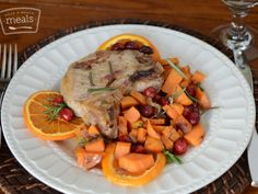 AIP Cranberry Maple Orange Pork Chops   Once A Month Meals   OAMC   Freezer Cooking   Freezer Meals   AIP Holiday Mini Menu   Autoimmune Protocol   Paleo