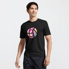 Volleyball T-Shirts. This cool volleyball t-shirt will look great on any volleyball player, no matter what age. If you are looking for a colorful volleyball tee or a volleyball gift idea, then look no further. | volleyball mug | volleyball clothes | volleyball posters | #volleyball #volley #beach