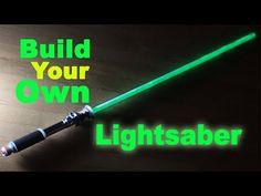 Lightsaber: Build Your Own! (Step by step) 2018 Make Your Own Lightsaber, Diy Lightsaber, Lightsaber Design, Leia Star Wars, Vader Star Wars, Star Trek, Star Wars Costumes, Diy Costumes, Star Wars Light Saber