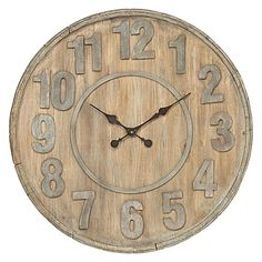 For beach-house chic, Scandinavian timber charm, or a classic antique look, the Devon Wall Clock, 70cm from Amalfi is the ideal clock for your space.