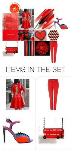 """Red & Orange"" by crystalglowdesign ❤ liked on Polyvore featuring art"